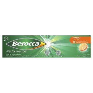 Berocca Energy Vitamin Orange Effervescent Tablets 15 pack