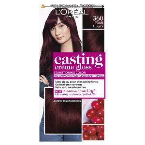 L'Oréal Paris Casting Crème Gloss Semi-Permanent Hair Colour – 360 Black Cherry (Ammonia Free)