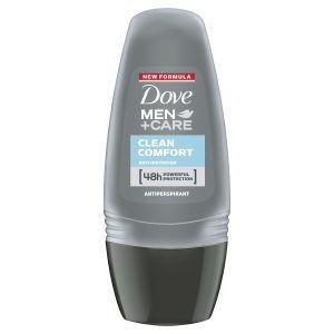 Dove Men Antiperspirant Roll On Deodorant Clean Comfort for 48 hour protection 50ml 1