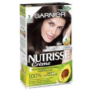 Garnier Nutrisse Permanent Hair Colour – 3 Espresso Darkest Brown