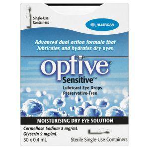 Optive Sensitive Lubricant Eye Drops 30 X 0.4mL 3