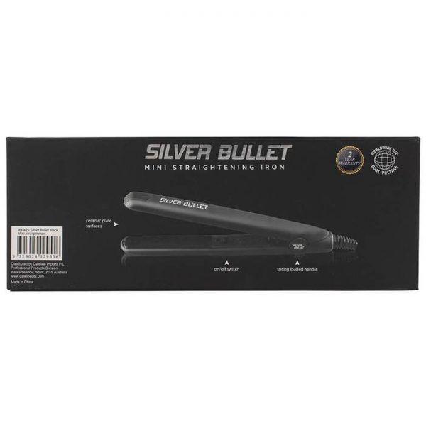 Silver Bullet Mini Hair Straightener Black 5